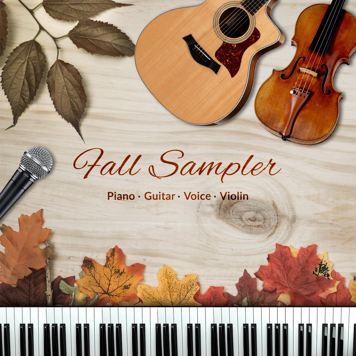 Piano, Guitar, Voice, Violin Fall Sampler Lessons