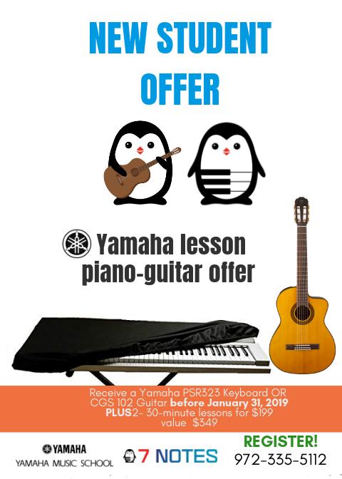 piano, guitar, voice, violin, private lessons, Yamaha guitar, Yamaha piano