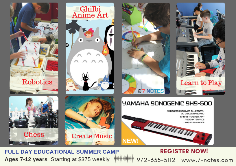 Music Summer Camps For Kids In Frisco, TX | 7 Notes Music School
