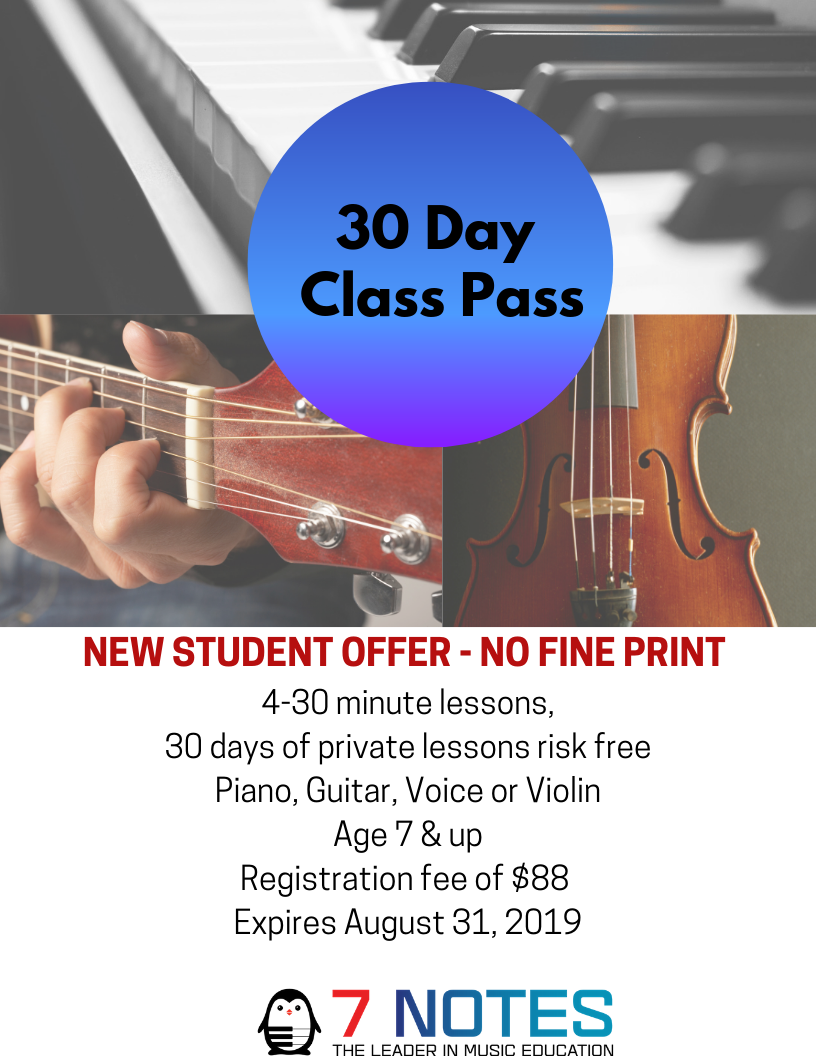 private lessons new student offer