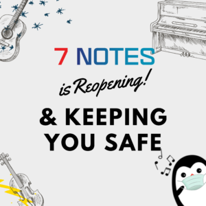 7 Notes is leading music school COVID19 safety